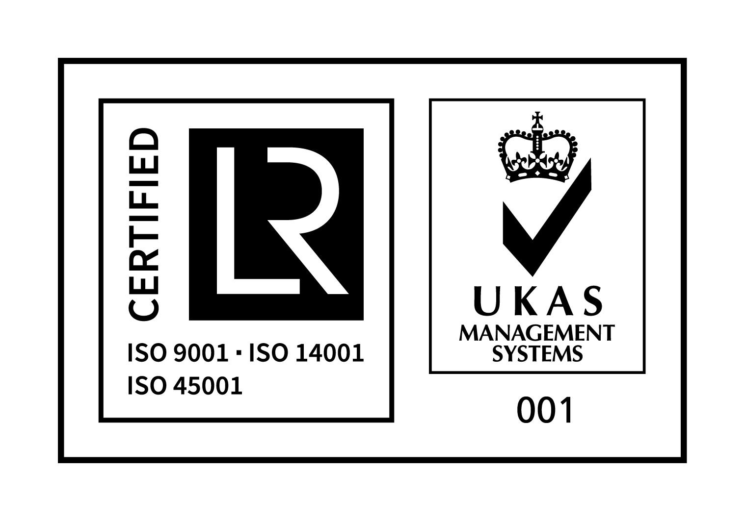 UKAS ISO 9001, 14001 & 45001