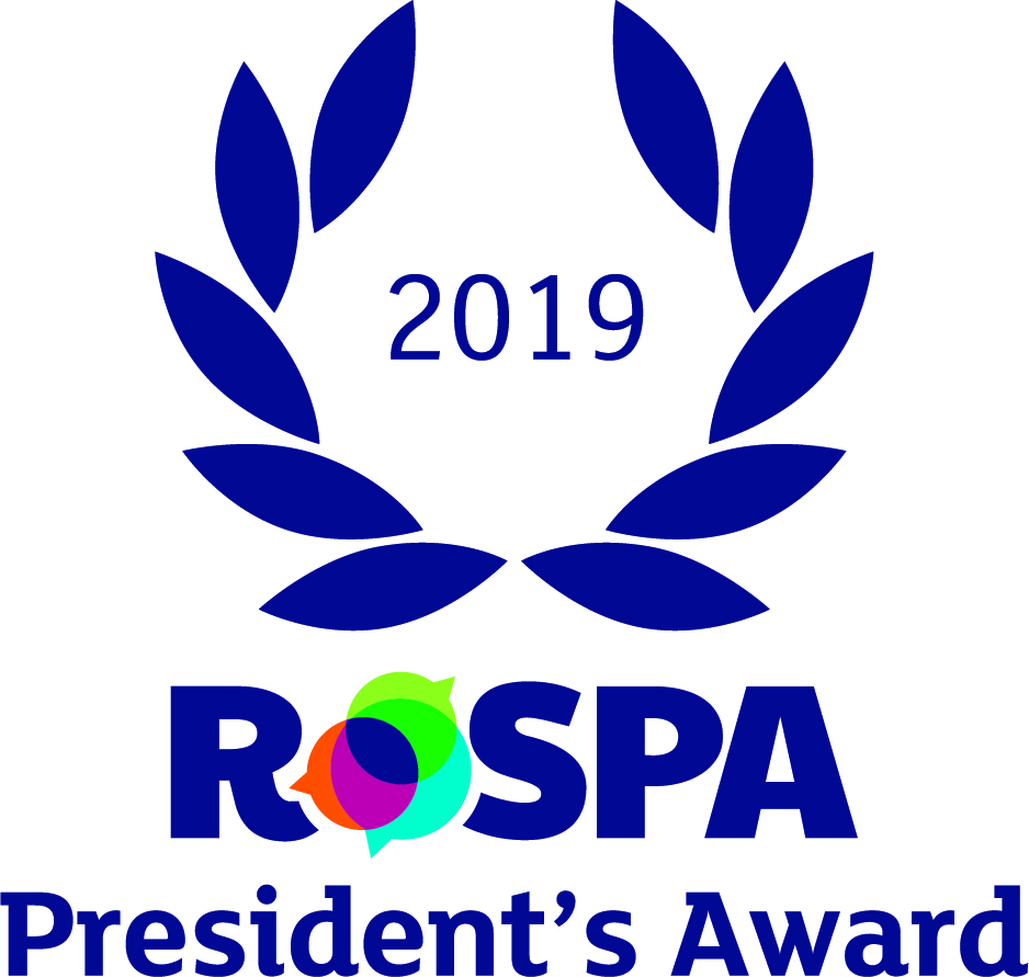 Safe in the knowledge with 11 consecutive gold RoSPA awards